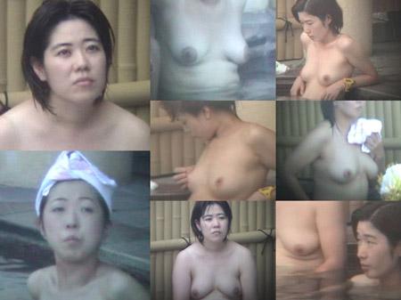 露天風呂で痴態を晒す奥様を隠し撮り!