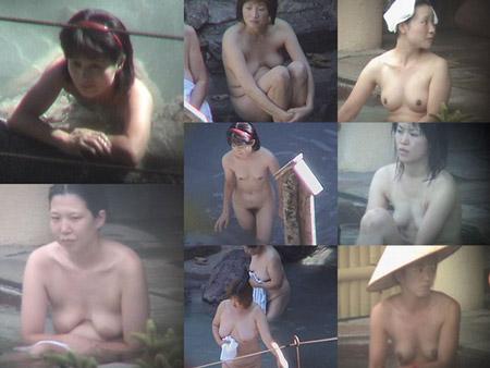 熟妻のエキス漂う露天風呂を隠し撮り